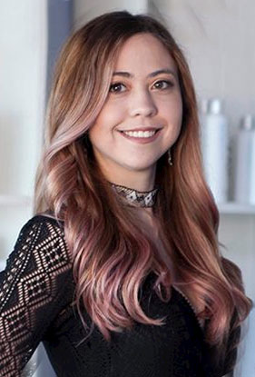 Portrait of Marina Shacklette, hair stylist and color specialist